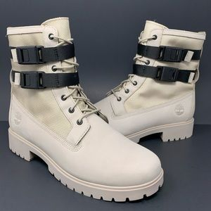 Timberland Jayne Double-Buckle Boots Light Taupe